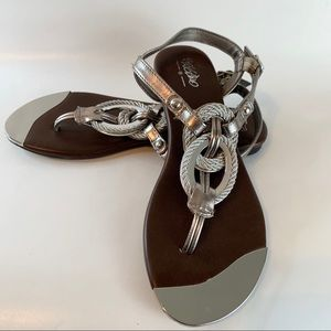 Mossimo Silver nautical rope sandals